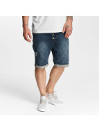 Authentic Style Shorts Sublevel Haka Bermuda Jogg Denim blau