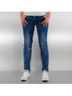 Authentic Style Skinny jeans Washed blå
