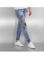 Authentic Style Skinny Jeans Rock Angel Flower mavi