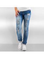 Authentic Style Skinny Jeans Destroyed niebieski