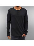 Authentic Style T-Shirt manches longues Henley bleu