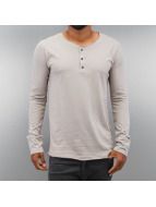 Authentic Style T-Shirt manches longues Henley gris