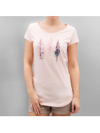 Authentic Style T-Shirt Urban Surface Feathers rosa