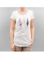 Authentic Style T-Shirt Urban Surface Feathers weiß