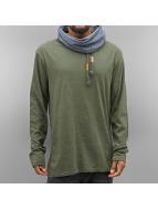 Authentic Style trui Style Hoody olijfgroen