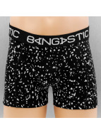 Bangastic Boxershorts Speckeld schwarz