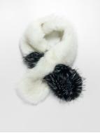 Bangastic Fake Fur Scarf White/Black