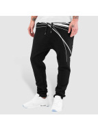 Bangastic Jogginghose WhiteStripes schwarz