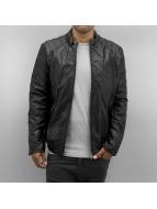 Bangastic Leather Jacket Classic black