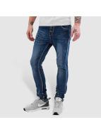 Open Placket Jeans Blue...