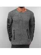 PU Knit Sweater Anthraci...