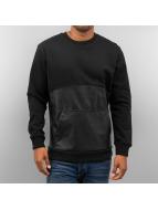 PU Leather Sweater Black...