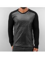 Quilt Sweater Black...