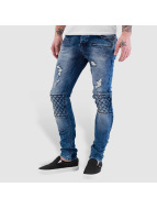 Bangastic Diamond Skinny Fit Jeans Blue