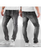 Bangastic Skinny Jeans Drawstring Anti Fit schwarz