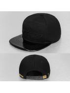Bangastic snapback cap PU Visor zwart