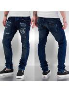 Bangastic Straight fit jeans Skull II blauw
