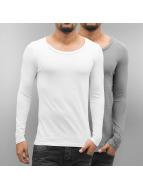 Bangastic T-Shirt manches longues 2-Pack blanc