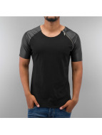 Bangastic T-Shirt PU Sleeve schwarz