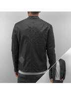 Bangastic Veste en cuir Logo noir