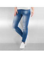Bench Облегающие джинсы Rip And Repair синий