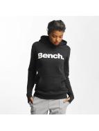 Bench Hoodie Crop Print svart