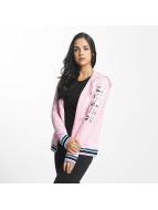 Bench Hoodies con zip Logo Zip Through rosa