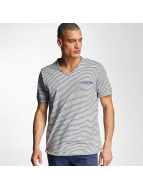 Bench T-Shirt V Neck blau