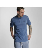 Bench T-Shirt Henley blau