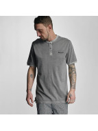 Bench T-Shirt Henley grau