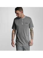 Bench T-shirt Henley grigio