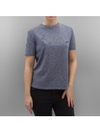 Bench T-Shirty Sequin Embroidery niebieski