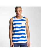 Bench Tank Tops Handpainted Stripe blau