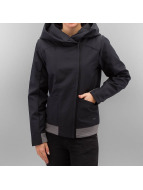 Bench Transitional Jackets Cozy Hood Asymmetrical svart