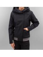Bench Transitional Jackets Cozy Hood Asymmetrical svart