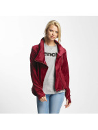 Bench Biker Funnel Sweat Jacket Red