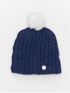 Bench Winter Bonnet Turn Up Bobble blue