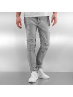 Black Kaviar Straight Fit Jeans Koop grå
