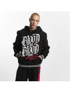Blood In Blood Out Bluzy z kapturem Logo czarny