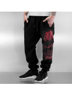 Blood In Blood Out Sweat Pant Red Calavera black