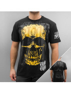 Blood In Blood Out T-Shirt Red Calavera yellow