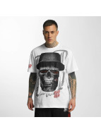 Blood In Blood Out T-shirtar Out Skull Hat vit
