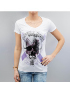 Blood In Blood Out T-Shirts Art Skull beyaz