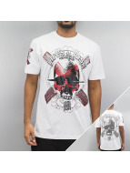 Blood In Blood Out T-Shirty Blood Art Skull bialy