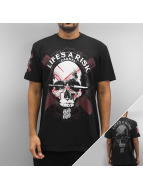 Blood In Blood Out T-Shirty Blood Art Skull czarny