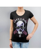 Blood In Blood Out T-Shirty Art Skull czarny