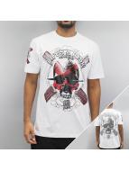 Blood In Blood Out T-skjorter Blood Art Skull hvit