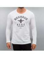BOXHAUS Brand Longsleeve Soar weiß