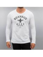 BOXHAUS Brand Longsleeve Soar white