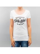 BOXHAUS Brand T-Shirt Lara Lee weiß